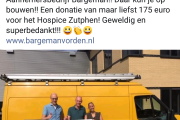 Aanbieding cheque Hospice